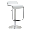 Narbonne Modern White Adjustable Height Stool