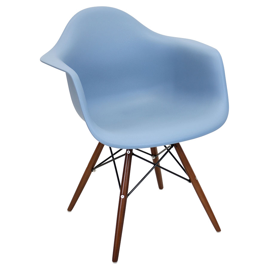 Nashua Blue Modern Arm Chair
