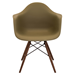 Nashua Olive + Espresso Contemporary Arm Chair
