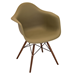 Nashua Olive Plastic + Espresso Contemporary Arm Chair