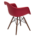Nashua Red Polypropylene + Espresso Contemporary Arm Chair