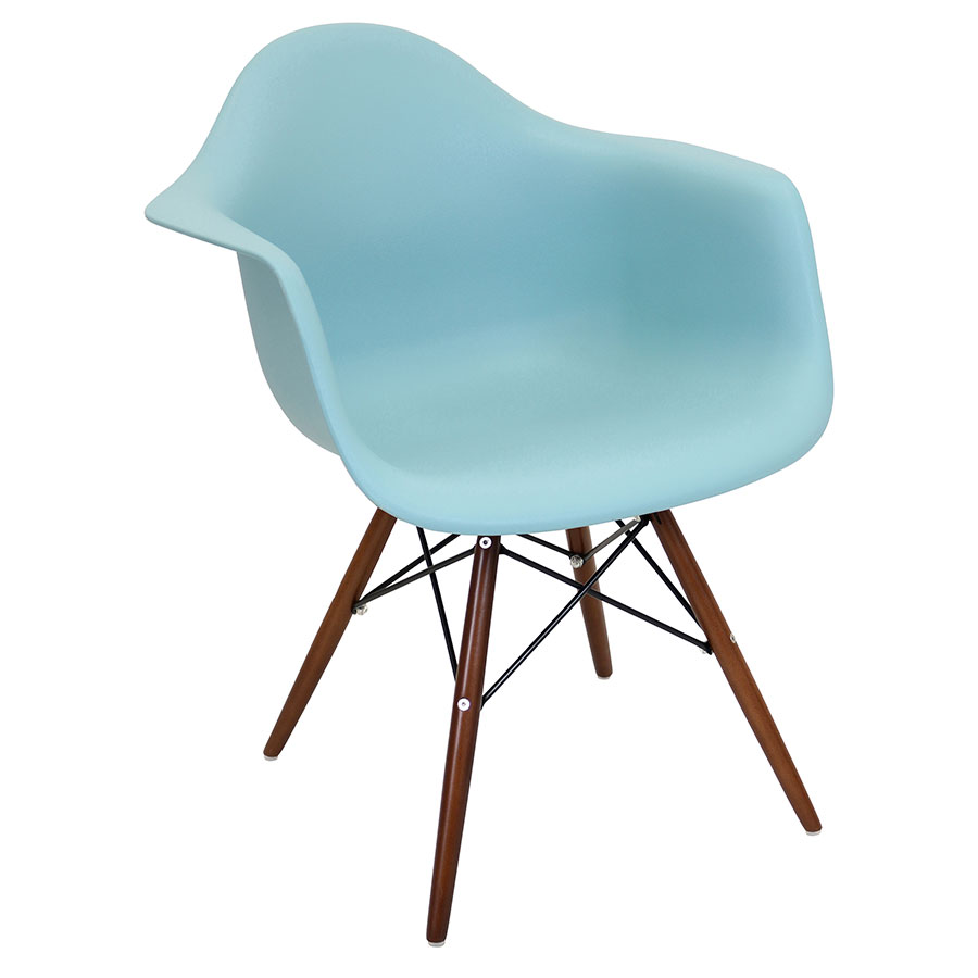 Nashua Sea Foam Modern Arm Chair
