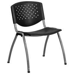 Nassau Modern Stacking Guest Chair in Black