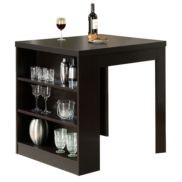 Natahsa Modern Cappuccino Counter Table w/ Storage