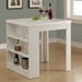 Natahsa Contemporary White Counter Table w/ Storage