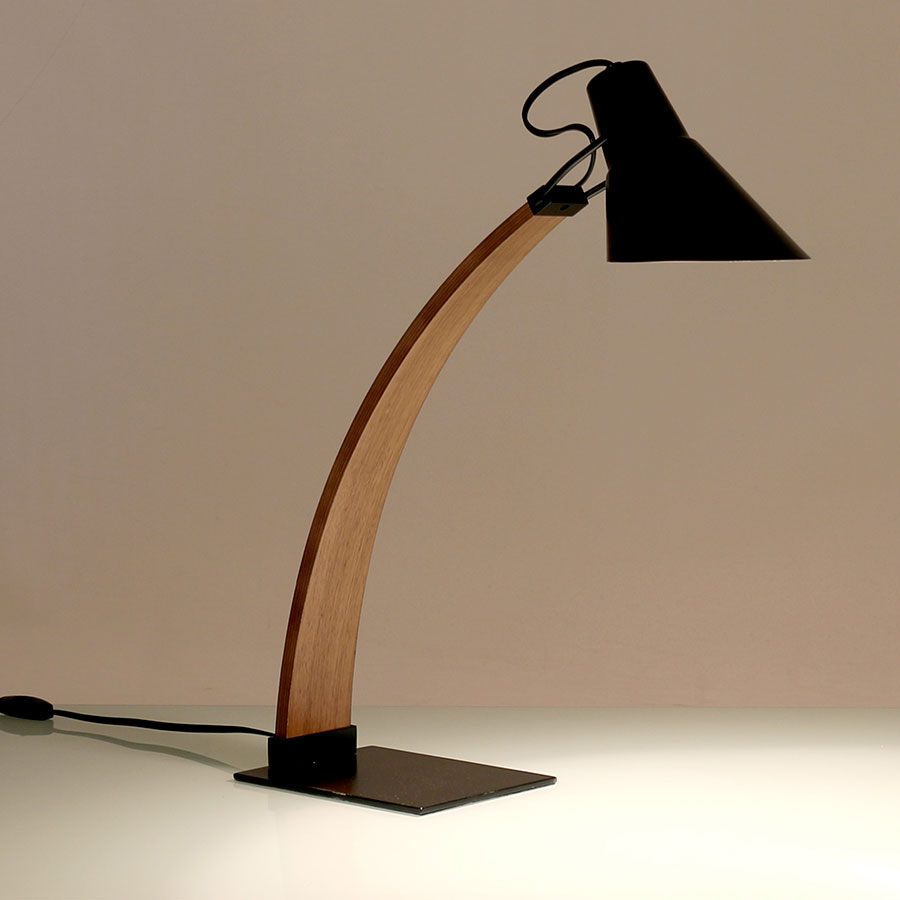 Nathaniel Black Contemporary Desk Lamp
