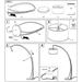 Nathaniel Modern Floor Lamp - Assembly Drawing
