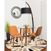 Nathaniel Black Metal + Wood Contemporary Floor Lamp