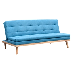 Neith Modern Sofa Bed in Aqua by Euro Style