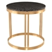 Nicola Black Marble + Gold Steel Round Modern Side Table