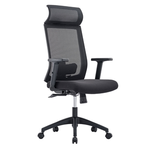 Euro Style Newton Black Modern High Back Office Chair