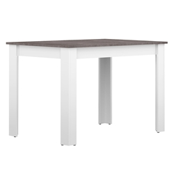 Nice 43 in. Matte White + Concrete Dining Table by TemaHome