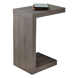 Nick Modern Dark Taupe Accent Table