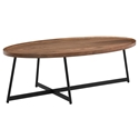 Niklaus Modern Oval Walnut Coffee Table by Euro Style