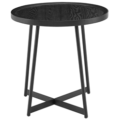 Niklaus Modern Round Black Ash Side Table by Euro Style
