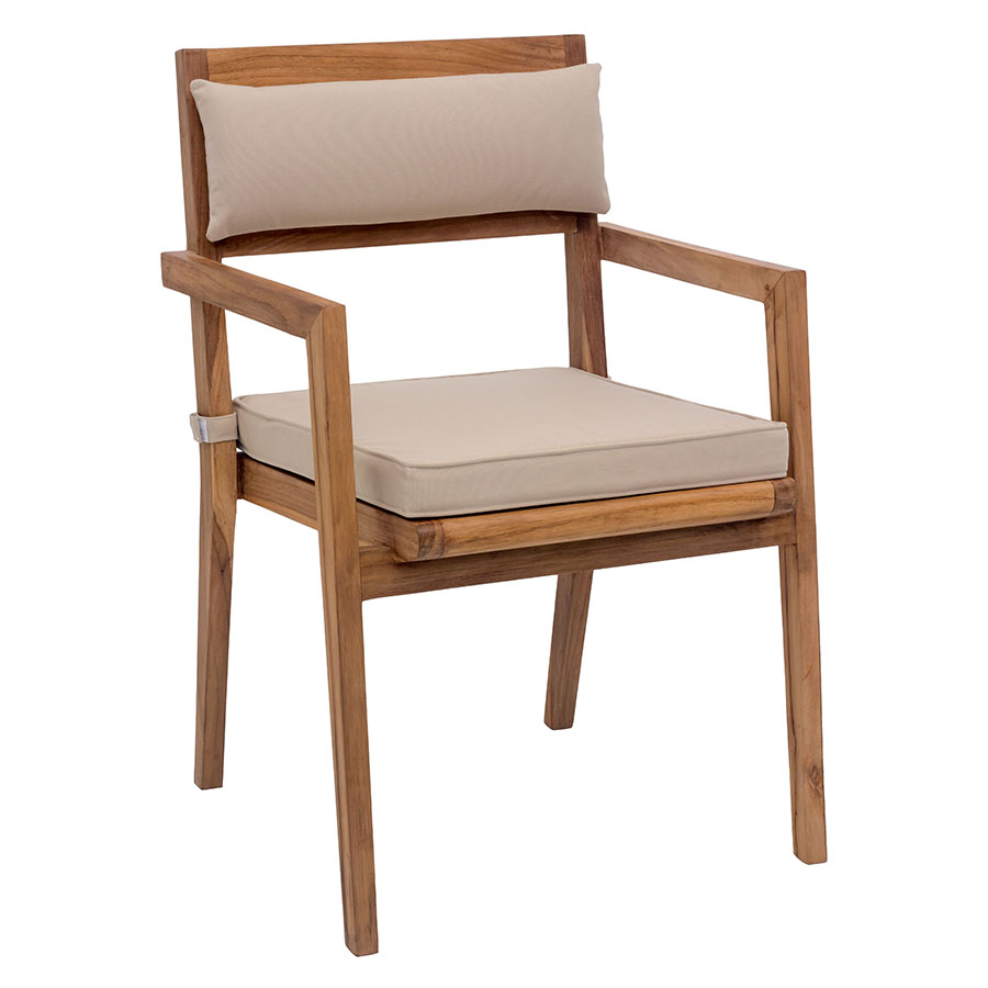 NIkolai Beige Modern Outdoor Dining Chair