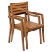 Nikolai Solid Unfinished Teak Modern Dining Chair