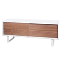 Nilo White + Walnut Contemporary TV Stand