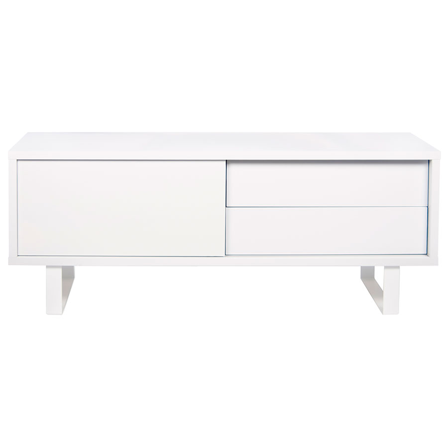 Nilo White Contemporary TV Stand