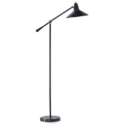 Nixon Modern Black Floor Lamp