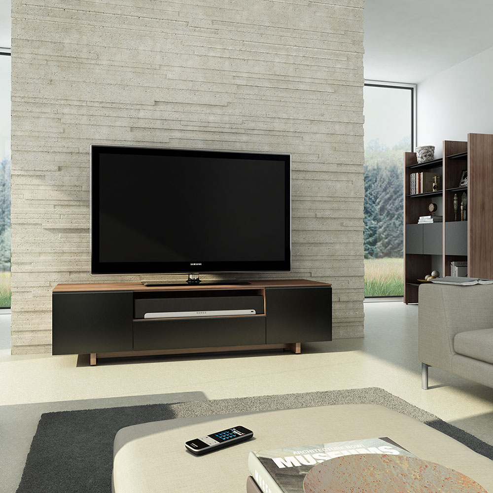 Nora Contemporary TV Stand in Walnut