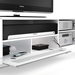 Nora Contemporary TV Stand in White