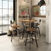 Norcross Modern Bar Table + Architect Stool by Amisco