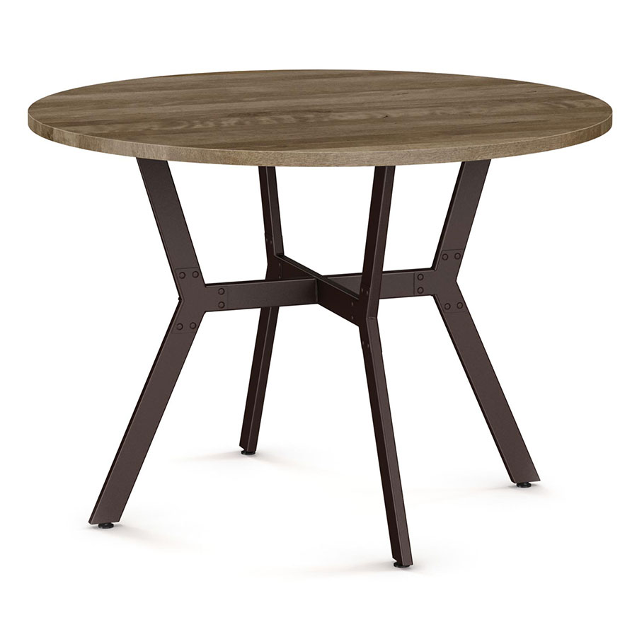 norcross modern dining table by amisco oxidadosand dust