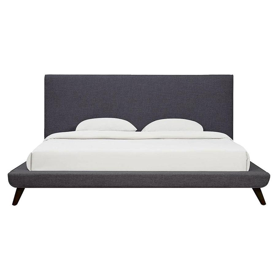 modern platform bed. Delighful Platform Call To Order  Nord Modern Gray Linen Platform Bed For B
