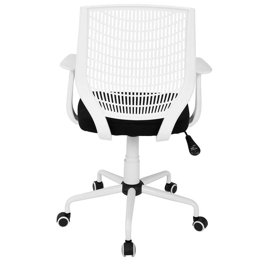 Norfolk white black modern office chair eurway for Modern white office chair