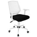 Norfolk White + Black Modern Office Chair