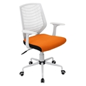 Norfolk White + Orange Modern Office Chair