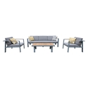 Norton Modern Outdoor Seating Set with Coffee Table