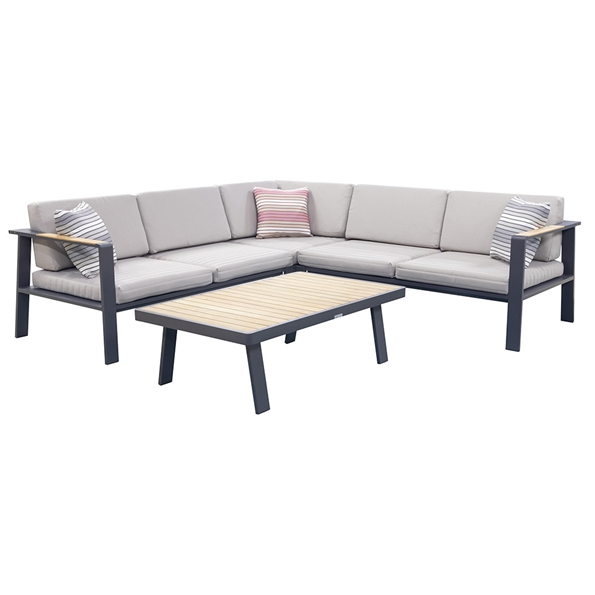 Norton Outdoor Sectional + Coffee Table | Taupe