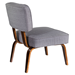 Norwich Gray Fabric + Plywood Contemporary Chair