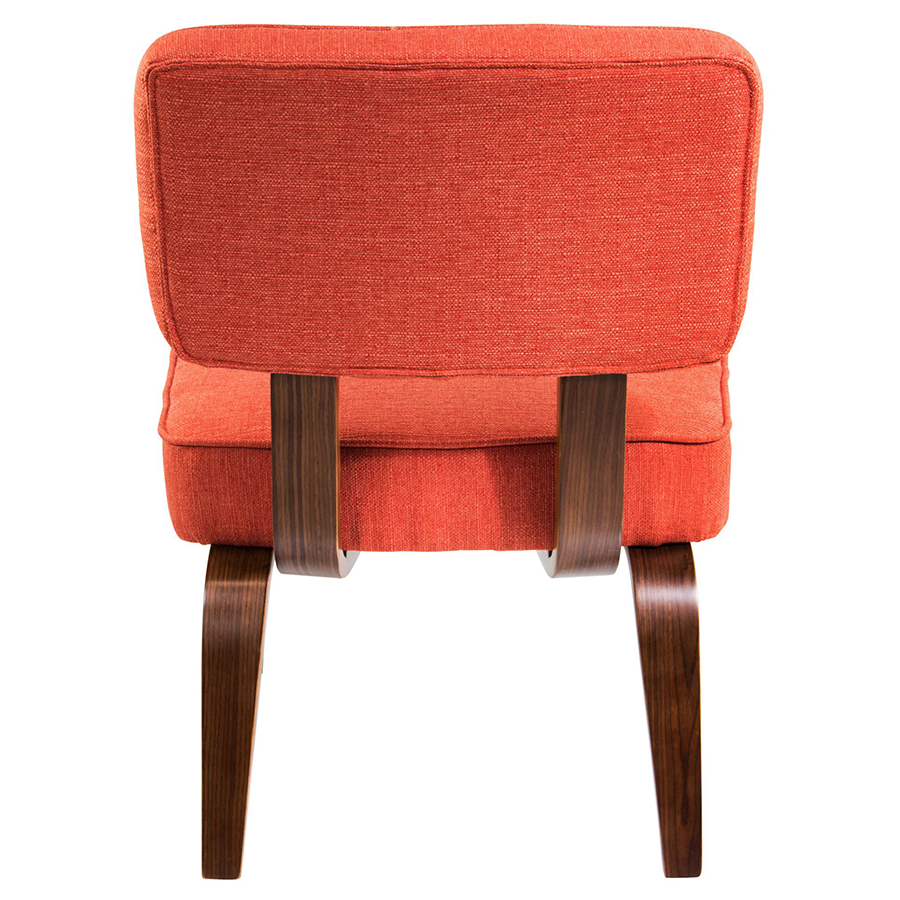... Norwich Orange Padded Fabric + Wood Modern Accent Chair