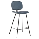 Norwich Blue Faux Leather Modern Counter Stool