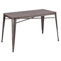 Oakland 52 Inch Antique + Espresso Rustic Modern Dining Table