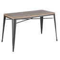 Oakland 52 Inch Gray + Brown Rustic Modern Dining Table