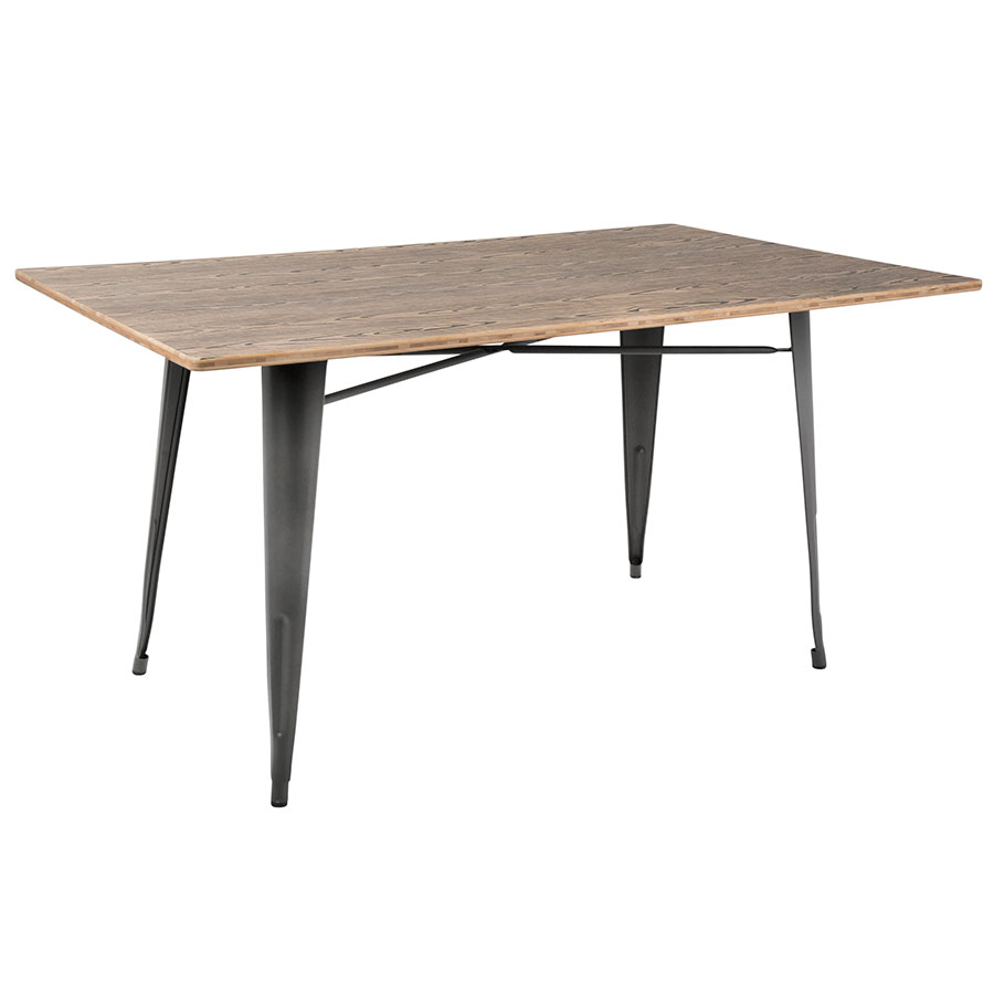 Oakland 59 Inch Gray + Brown Rustic Modern Dining Table
