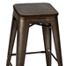Oakland Antique + Espresso Modern Bar Stool