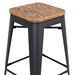 Oakland Grey + Contemporary Bar Stool - Details