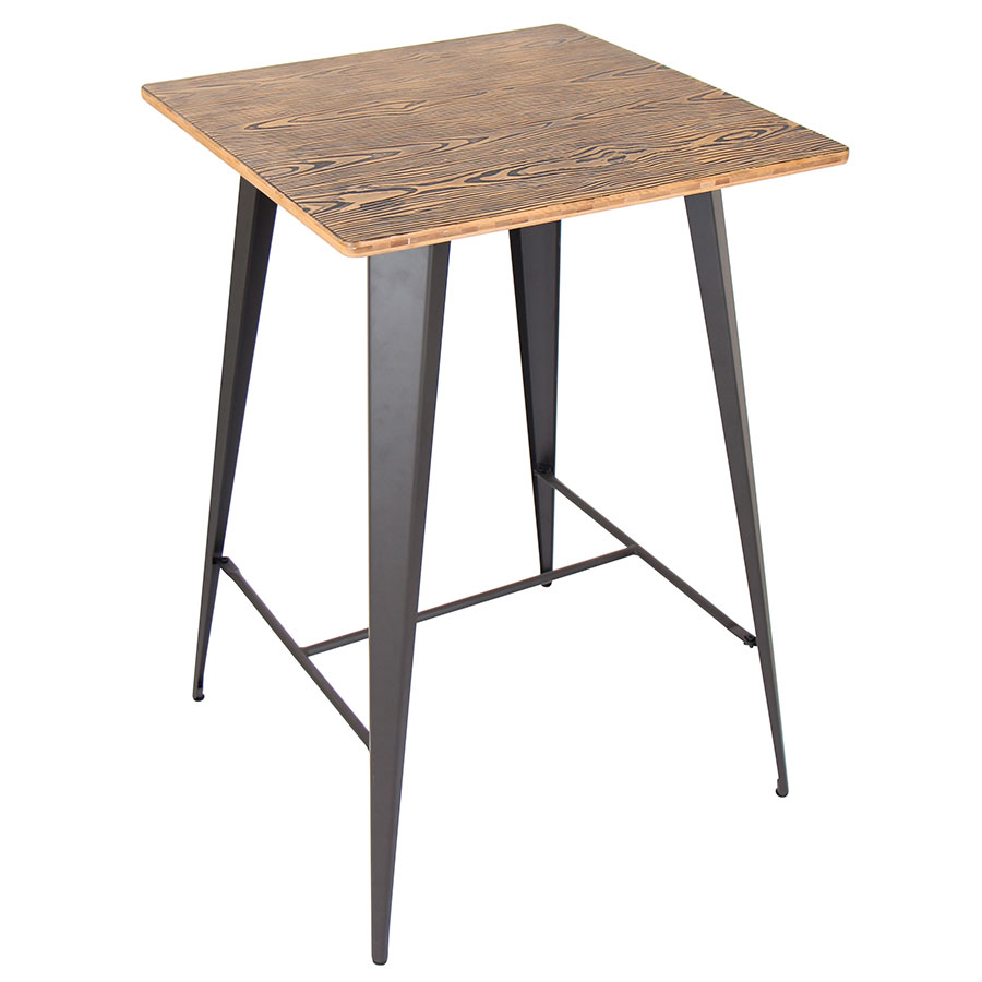 Modern bar tables oakland gray bar table eurway for Table bar moderne