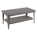 Oakland Modern Industrial Coffee Table in Espresso + Antique