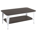 Oakland Modern Industrial Coffee Table in Espresso + White