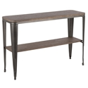 Oakland Modern Industrial Console Table - Espresso + Antique