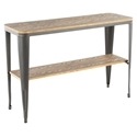 Oakland Modern Industrial Console Table - Brown + Gray