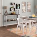 Oakland Espresso Wood + Vintage White Metal Console Table
