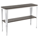 Oakland Modern Industrial Console Table - Espresso + White
