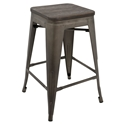 Oakland Antique + Espresso Modern Counter Stool